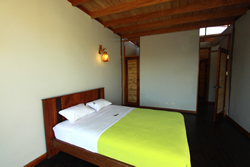 Each Kites Mancora house has a master bedroom with a bed fit for a king