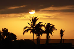 Enjoy sunset walks on Mancora beach